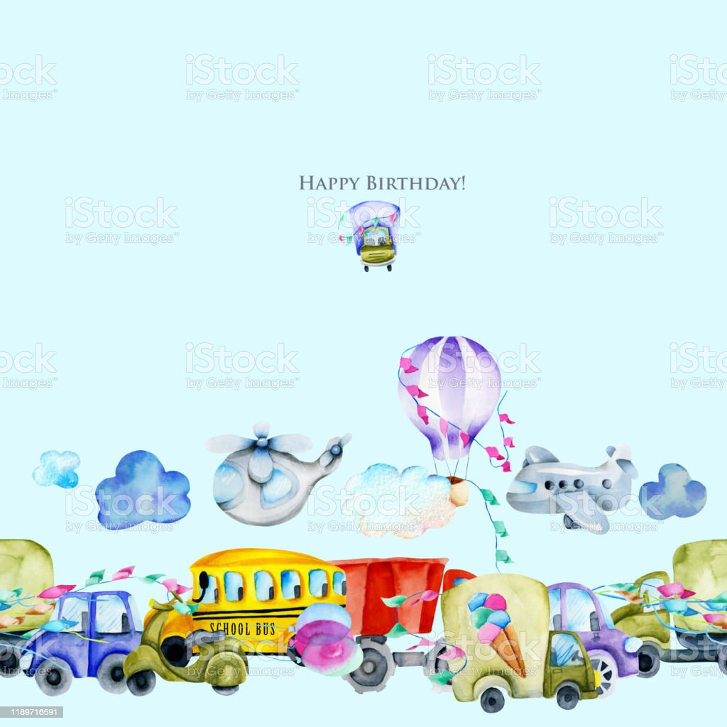 Frame template with kids on school bus Royalty Free Vector
