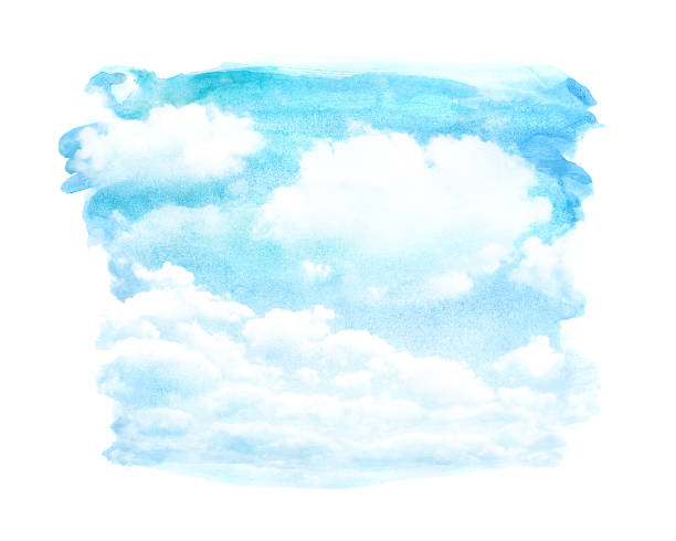 watercolor cloud - skies stock illustrations, clip art, cartoons, & icons
