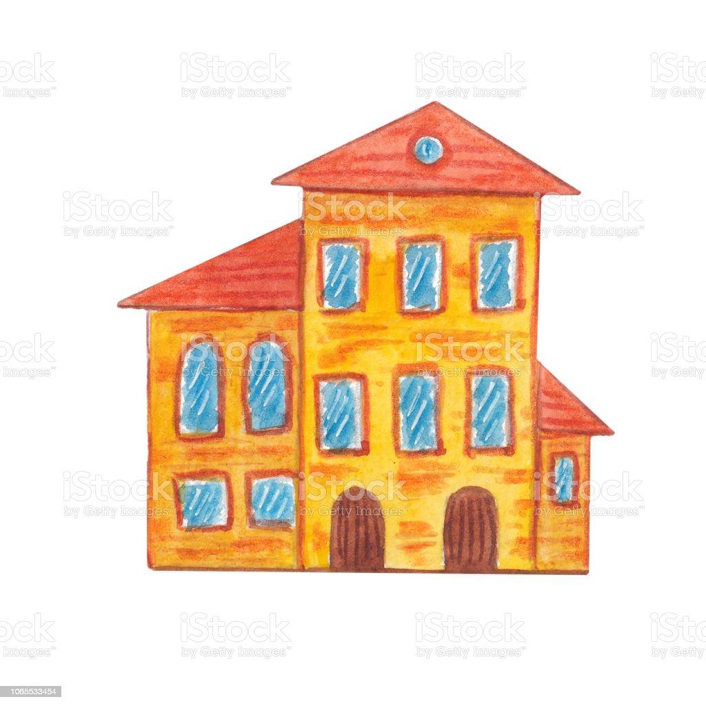 Ilustración De Casa Acuarela Dibujos Animados Y Más Vectores Libres