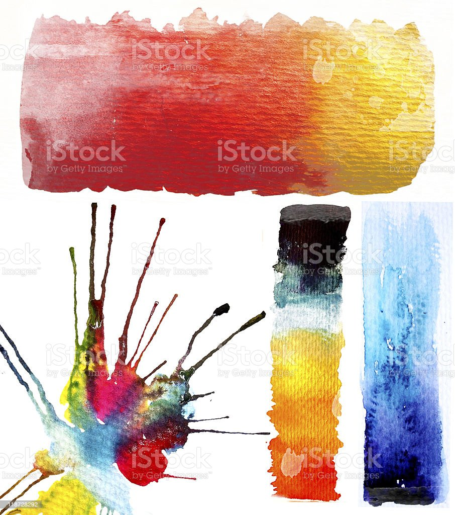 Watercolor design elements royalty-free stock vector art