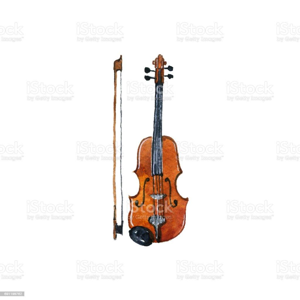 Vetores De Violino De Desenho Aquarela E Mais Imagens De Analogico