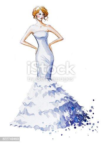 рисунок девушки красками в полный рост принцип работы