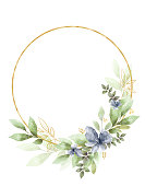 istock Watercolor Floral Clipart. Wedding invitation elements. 1272877829