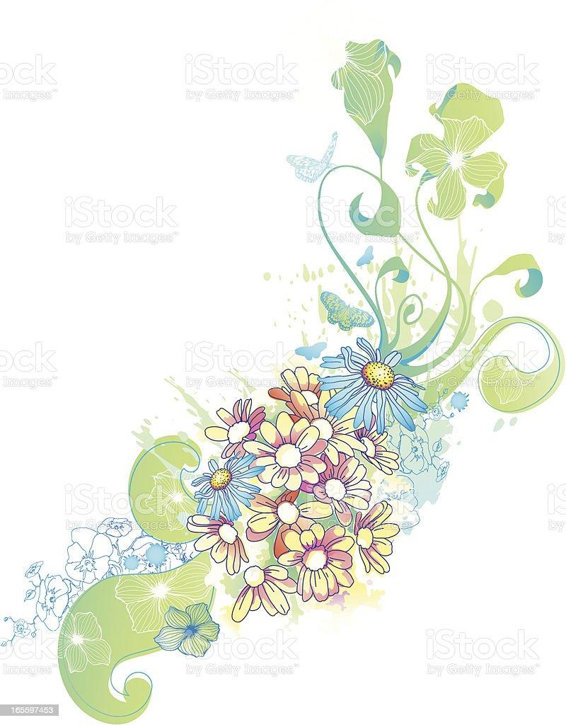 Watercolor Floral Design royalty-free stock vector art