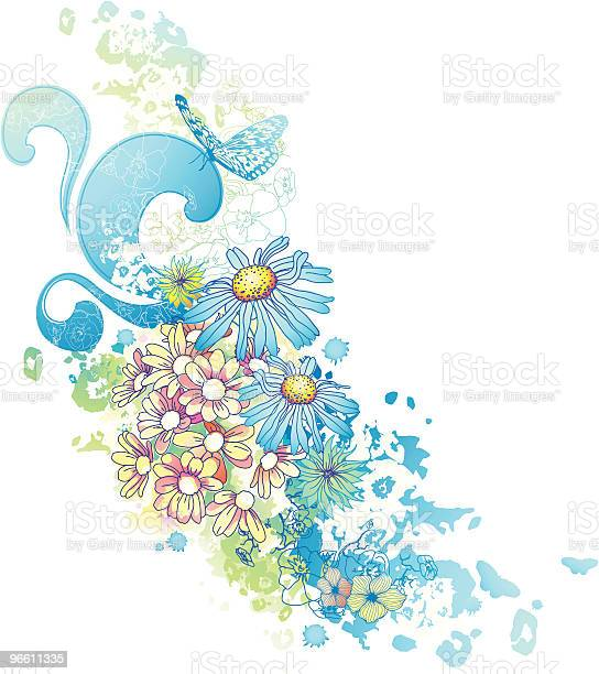 Watercolor Floral Design-vektorgrafik och fler bilder på Akvarellmålning
