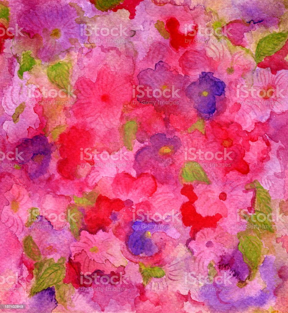 watercolor flower background royalty-free stock vector art