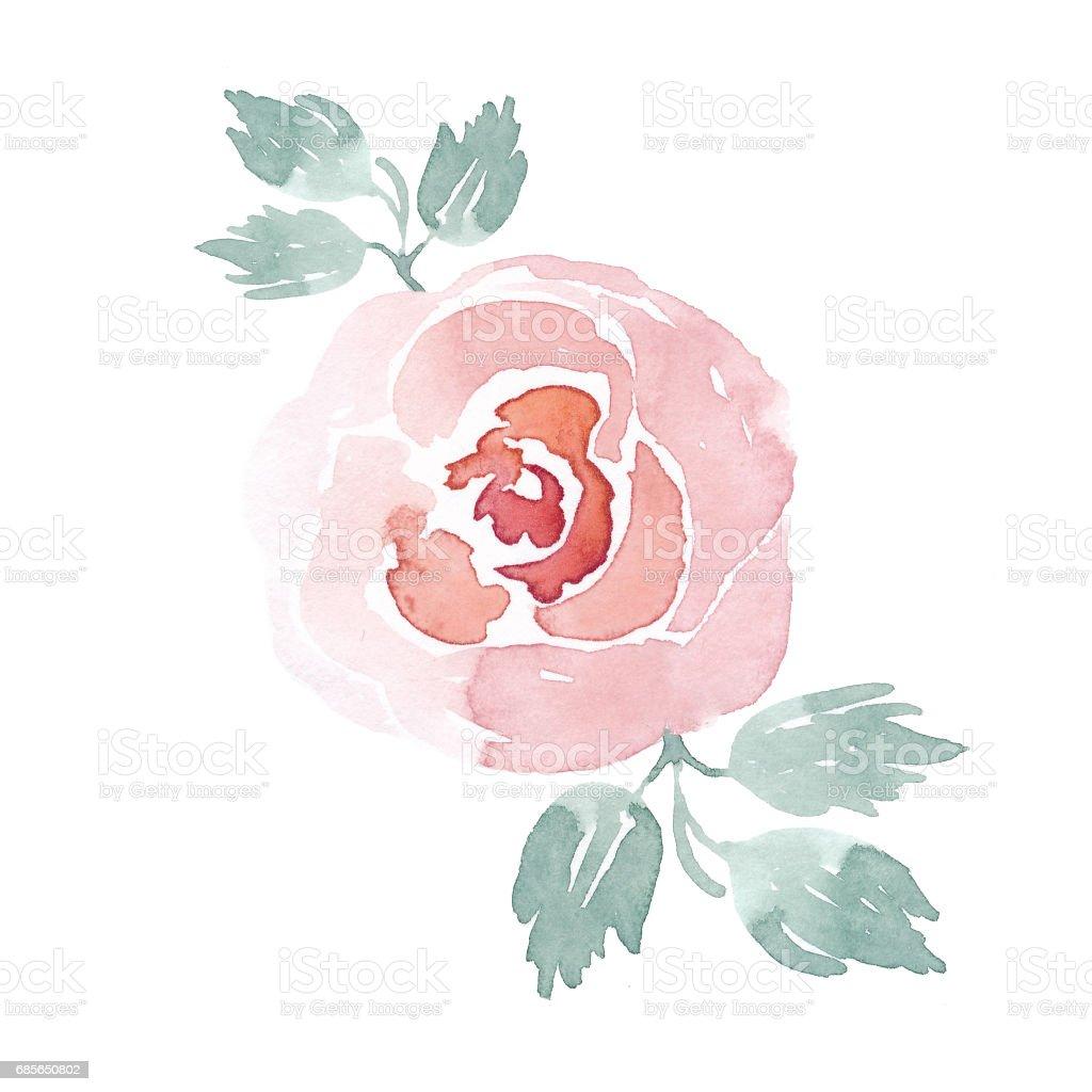 수채화 꽃 꽃다발: 장미, 튤립, 모란, 단풍 royalty-free 수채화 꽃 꽃다발 장미 튤립 모란 단풍 결혼식에 대한 스톡 벡터 아트 및 기타 이미지