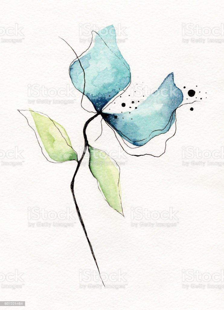 Fleur Aquarelle Cliparts Vectoriels Et Plus D Images De Abstrait