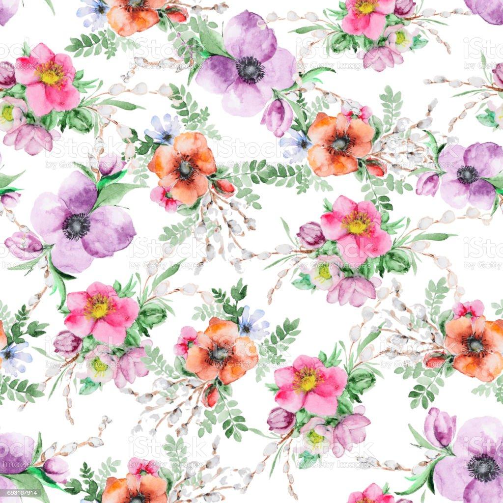 Aquarelle Fleur Imprimer Vecteurs Libres De Droits Et Plus D Images Vectorielles De Carre Composition Istock