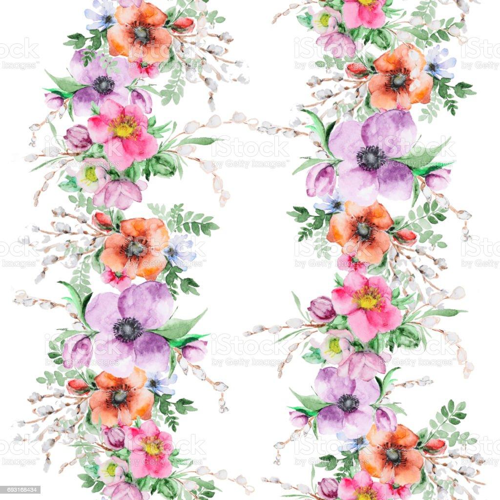 Aquarelle Fleur Imprimer Vecteurs Libres De Droits Et Plus D