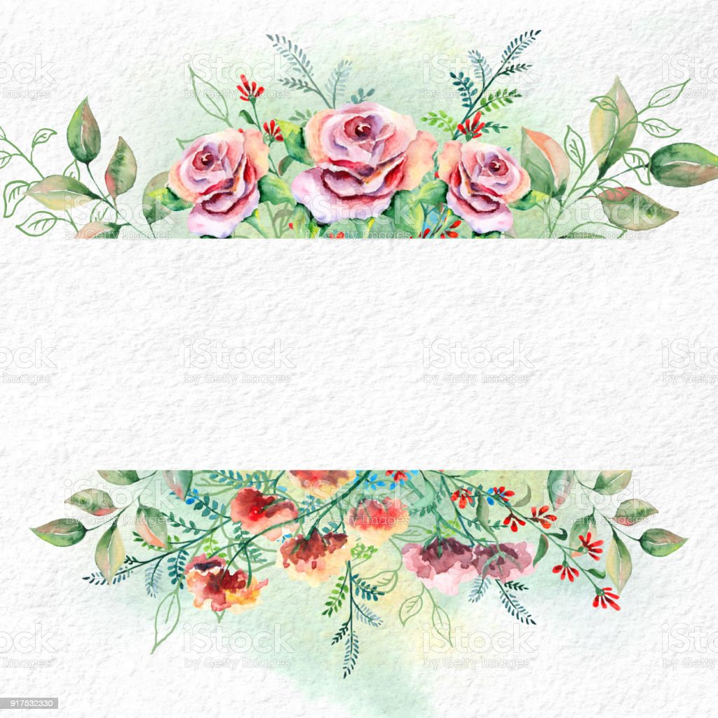 Watercolor flowers on white watercolor paper stock vector art more watercolor flowers on white watercolor paper royalty free watercolor flowers on white watercolor paper stock mightylinksfo