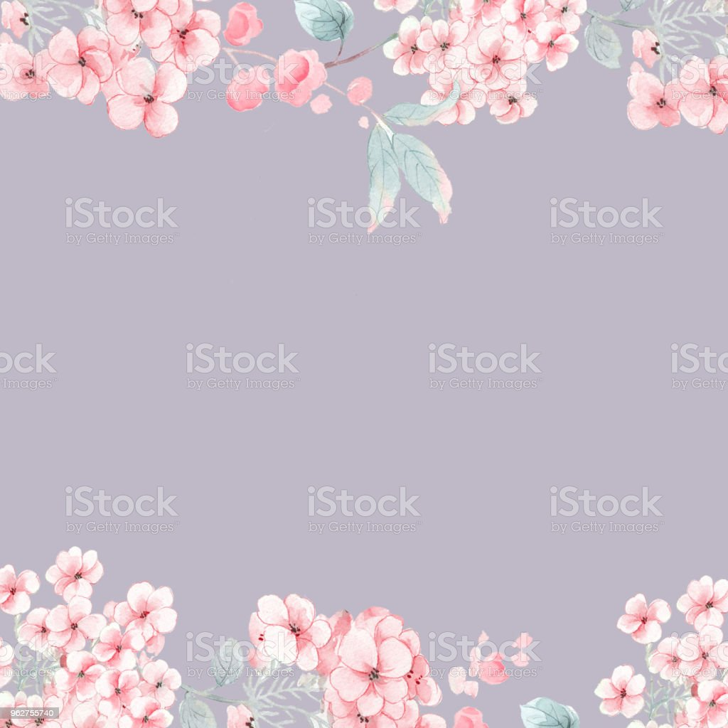 Watercolor flowers rose peony - Illustrazione stock royalty-free di Arte