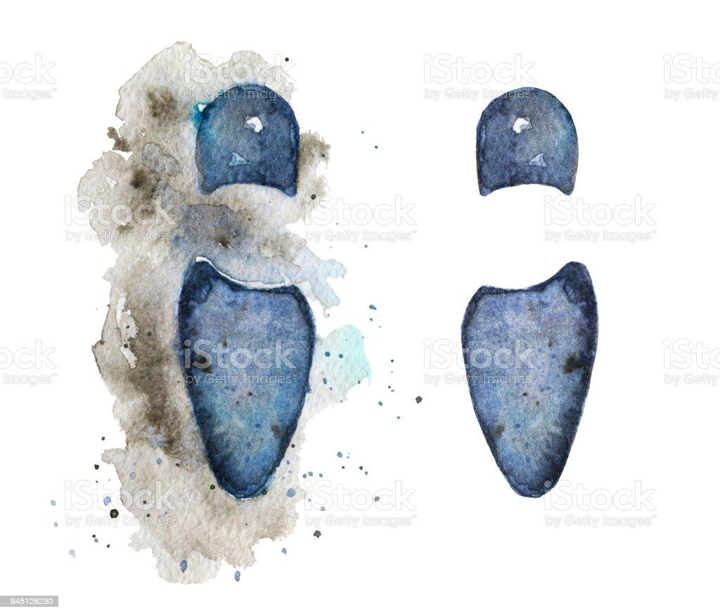 Suluboya Ayak Ayakkabı Stok Vektör Sanatı Ayaknin Daha Fazla