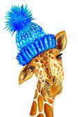 istock Watercolor giraffe 1189014637