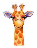 Vector drawing of giraffe