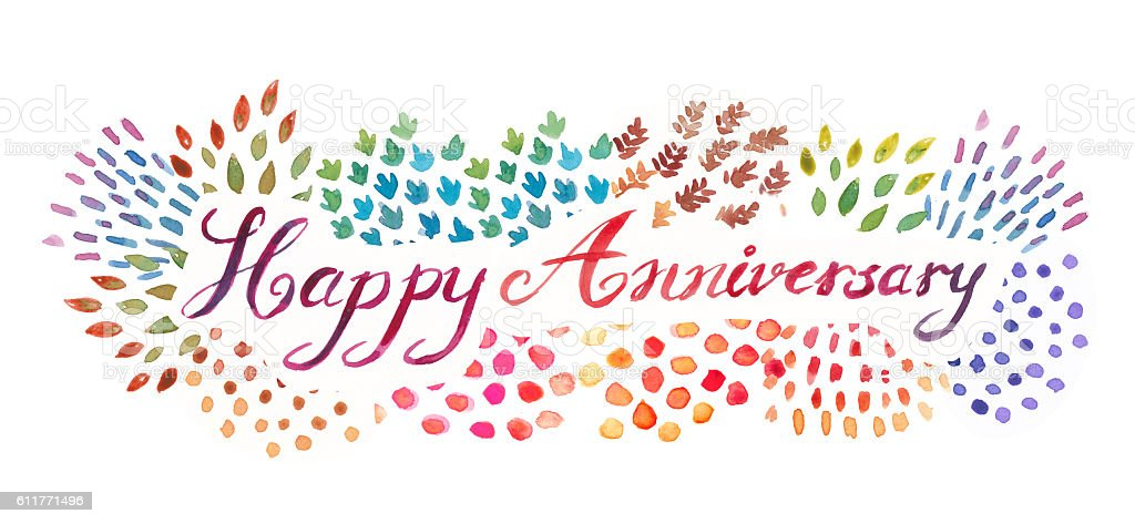 Watercolor hand lettering happy anniversary typography illustrat watercolor hand lettering happy anniversary typography illustrat watercolor hand lettering happy anniversary typography illustrat voltagebd Choice Image
