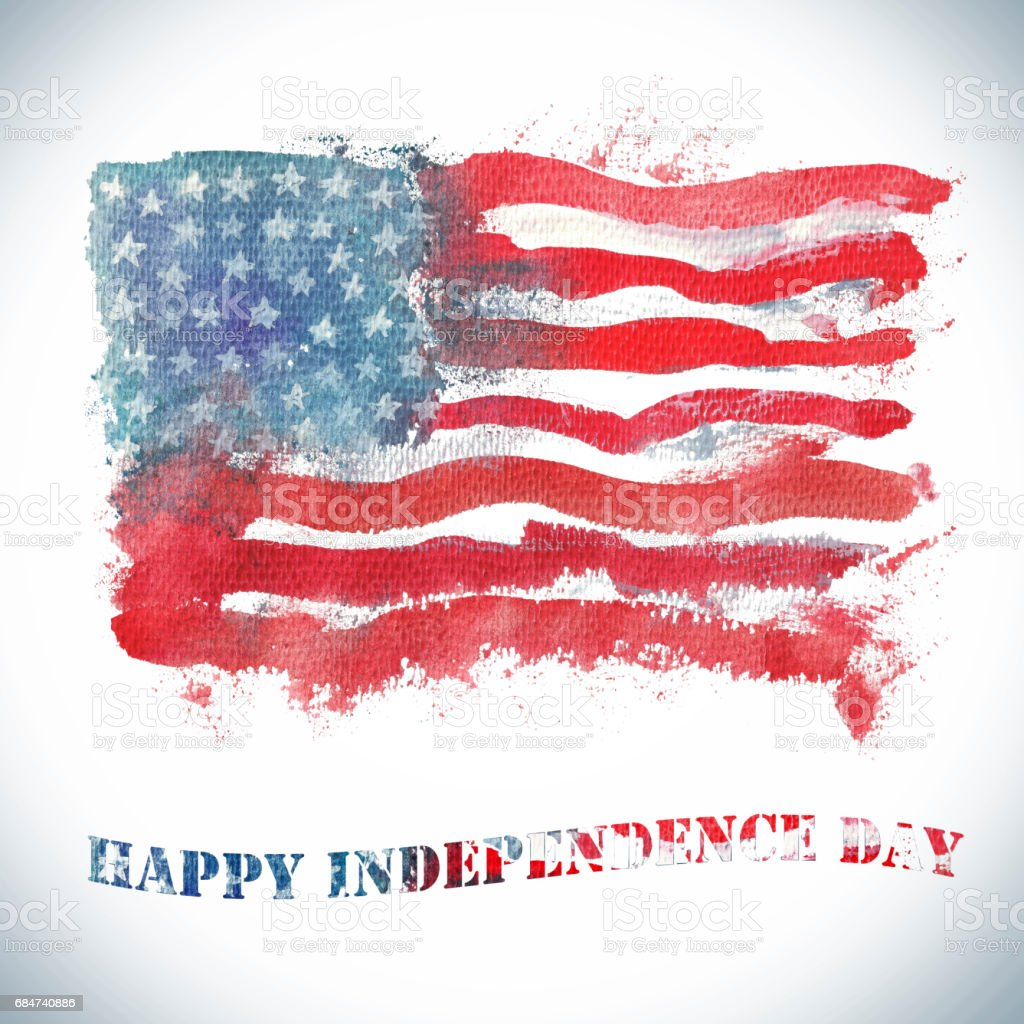Watercolor happy independence day greeting card stock vector art watercolor happy independence day greeting card royalty free watercolor happy independence day greeting card m4hsunfo Image collections