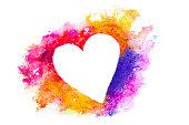 istock Watercolor heart silhouette 526789273