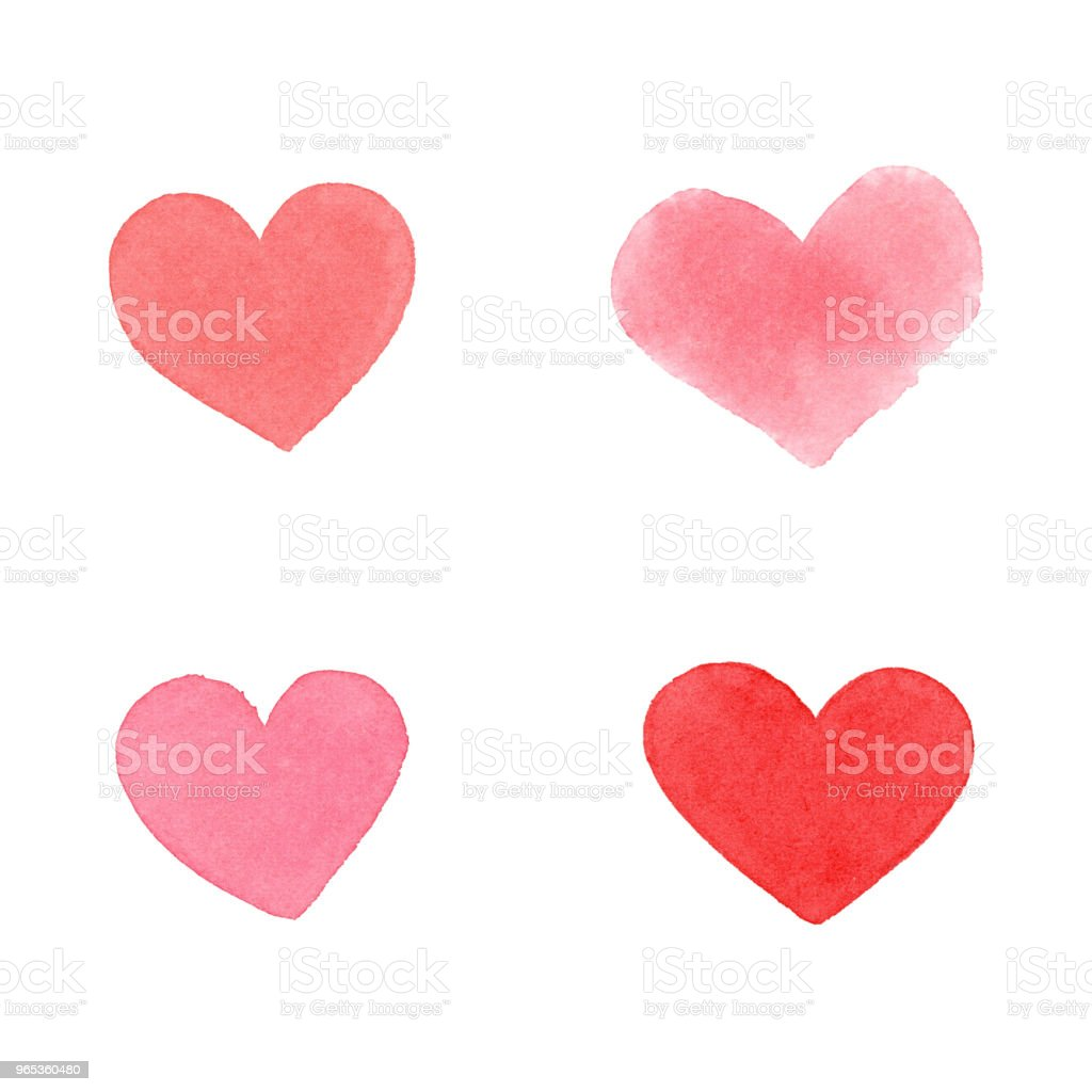 Watercolor Hearts royalty-free watercolor hearts stock vector art & more images of abstract