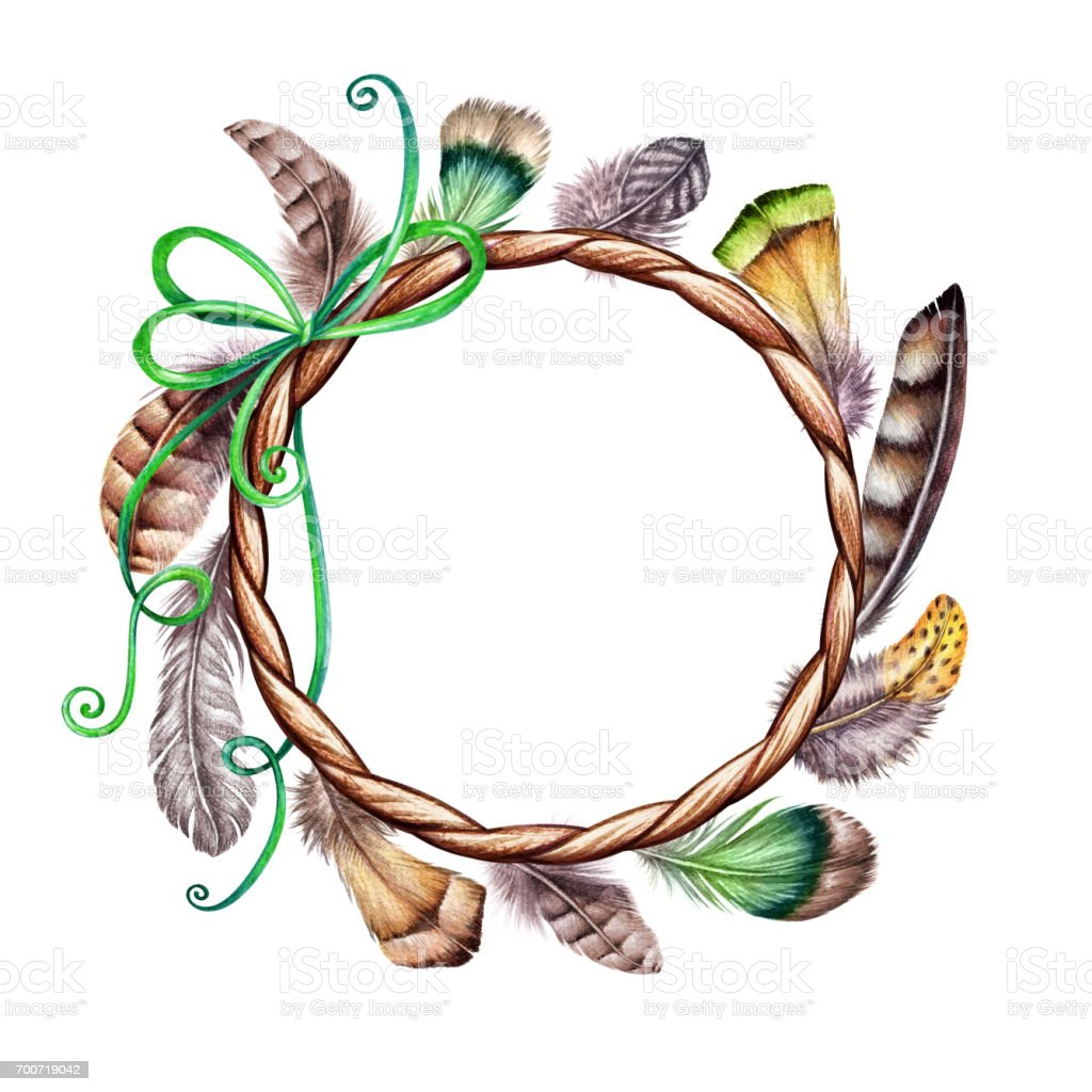 watercolor illustration colorful boho feather easter clip art tribal rh istockphoto com