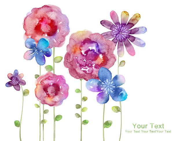 水彩画の花柄でシンプルな背景のイラスト - 春のファッション点のイラスト素材/クリップアート素材/マンガ素材/アイコン素材