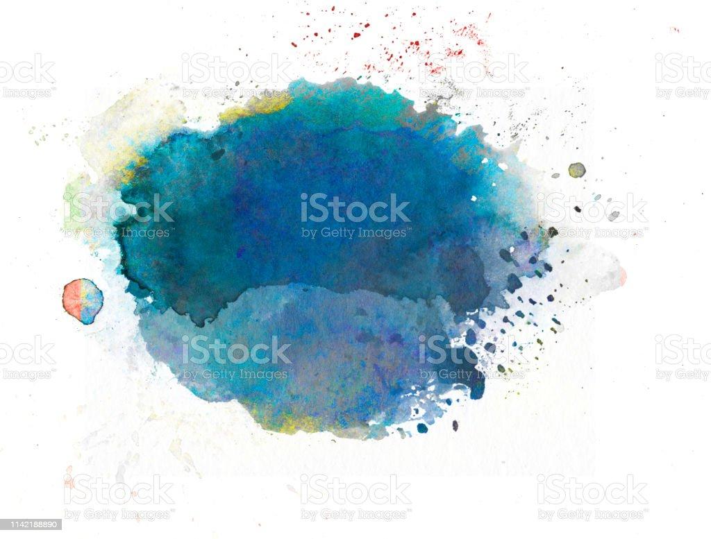 watercolor vector art illustration