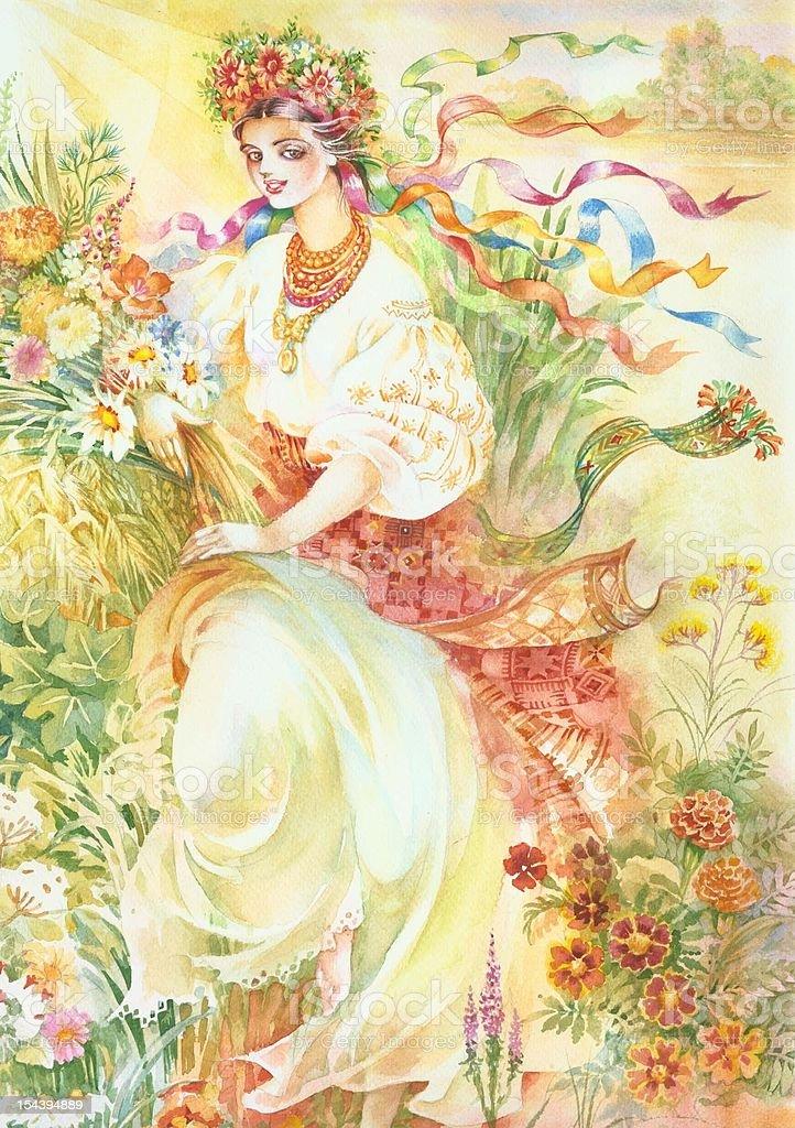 Watercolor Illustration royalty-free stock vector art