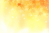Watercolor illustration of autumn background.