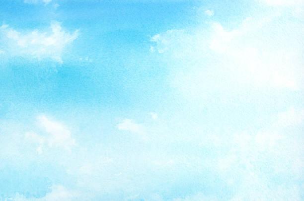 青空の水彩イラスト。 - 空点のイラスト素材/クリップアート素材/マンガ素材/アイコン素材