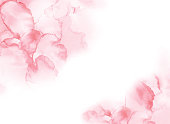Watercolor ink art background pink
