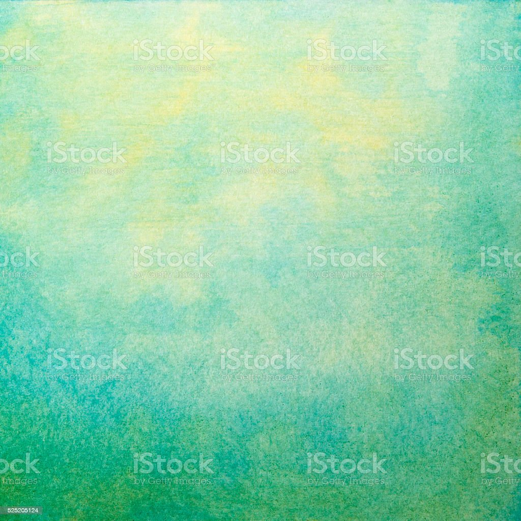 watercolor landscape summer background vector art illustration