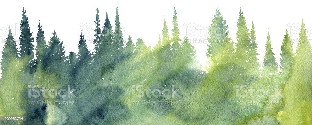 watercolor landscape with trees stock illustration download image now istock watercolor landscape with trees stock illustration download image now istock