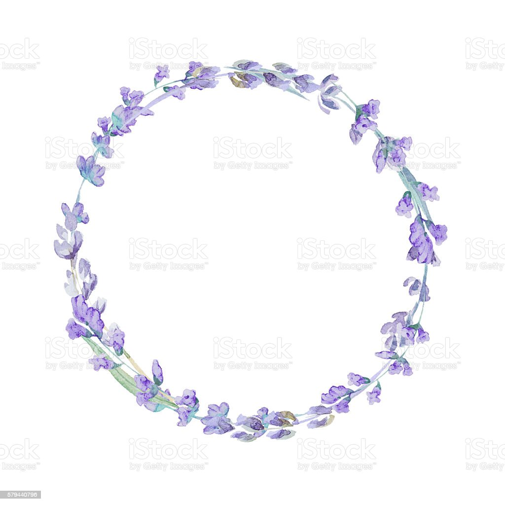 watercolor lavender wreath stock vector art amp more images