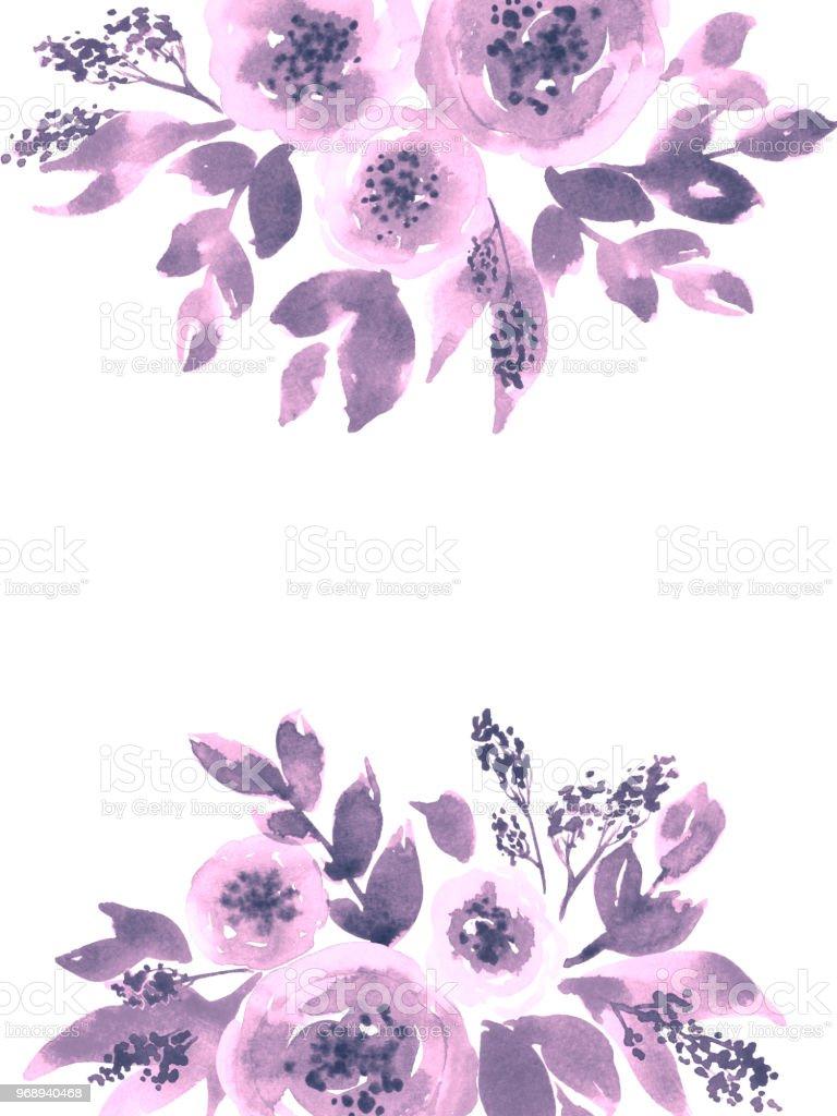 Ilustración De Flores De Peonía Sueltos Acuarela Arreglos