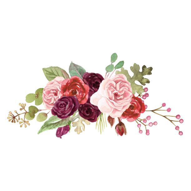 水彩瑪律薩拉玫瑰 - 淺粉色 幅插畫檔、美工圖案、卡通及圖標