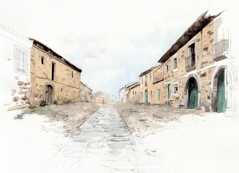 Watercolor of the Way of Saint James