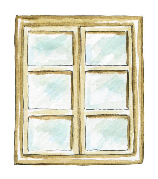 Royalty Free Old Window Frame Clip Art, Vector Images ...