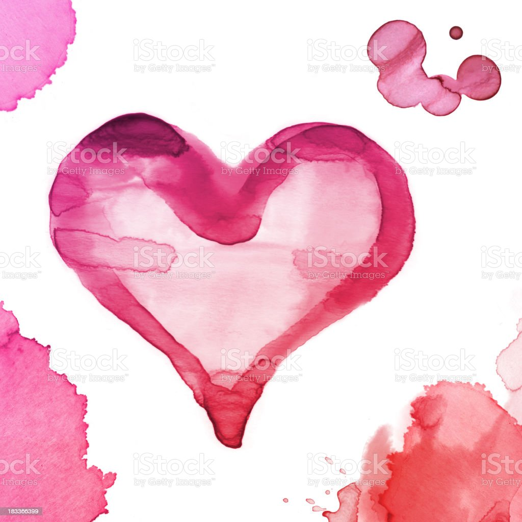 Watercolor Paint Texture Heart Shape royalty-free watercolor paint texture heart shape stock vector art & more images of abstract