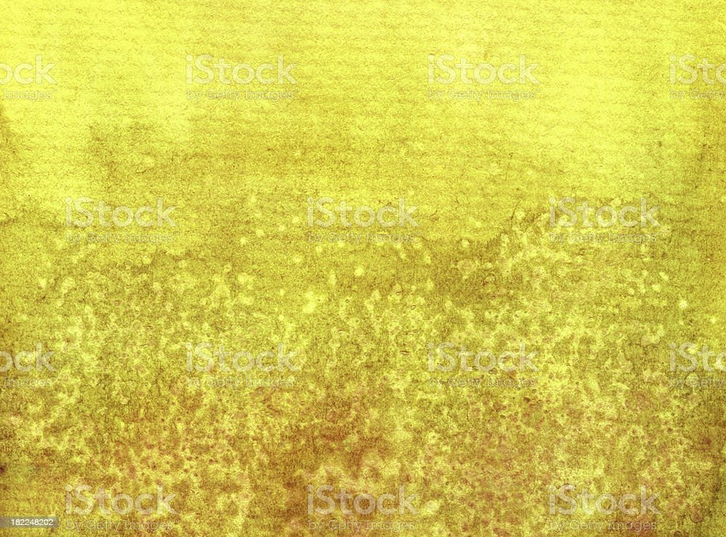 Watercolor painted border in monochrome grunge yellow  abstract background royalty-free stock vector art