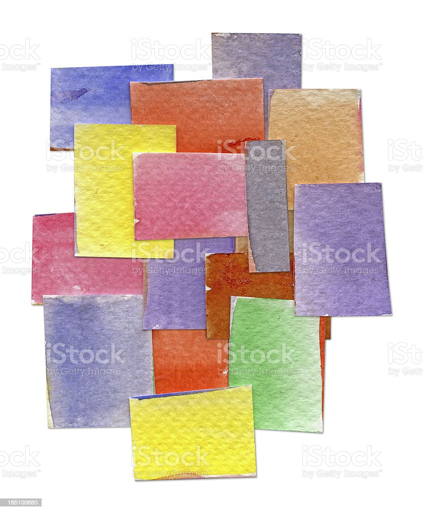 Watercolor Painted Rectangle royalty-free stock vector art