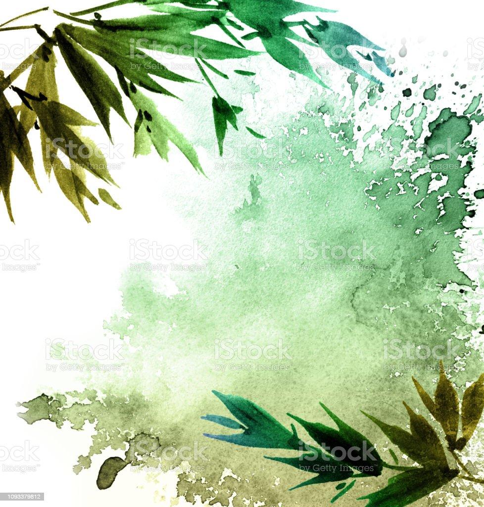 Aquarell Gemalt Baum Laub Stock Vektor Art Und Mehr Bilder Von