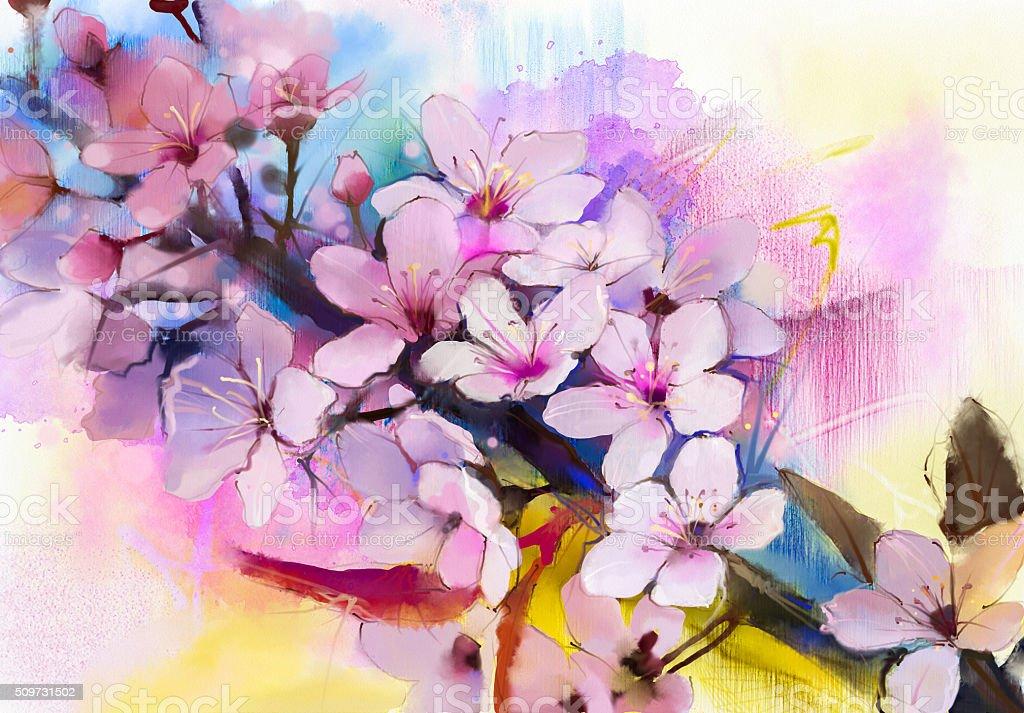 Peinture Aquarelle Fleurs De Cerisier Japonais Le Cerisier Et Sakura