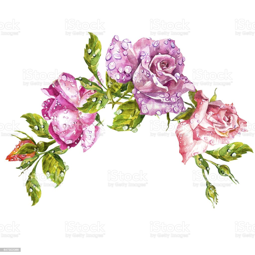 Watercolor painting greeting cards rose background watercolor watercolor painting greeting cards rose background watercolor composition flower backdrop isolated illustration m4hsunfo