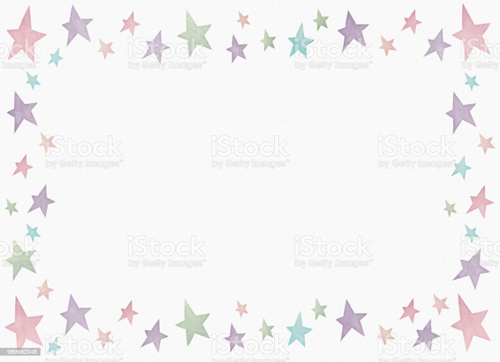 Watercolor painting star frame copy space royalty-free watercolor painting star frame copy space stock vector art & more images of analog