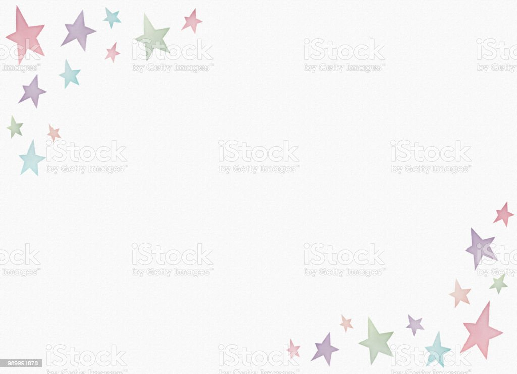 Watercolor painting star pattern copy space vector art illustration