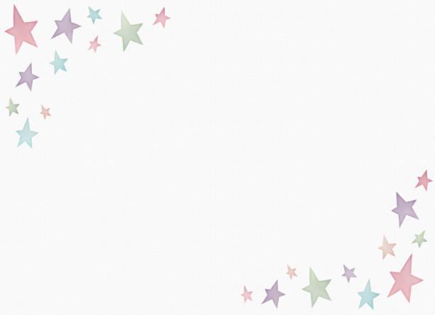 水彩画星のパターン コピー スペース ベクターアートイラスト