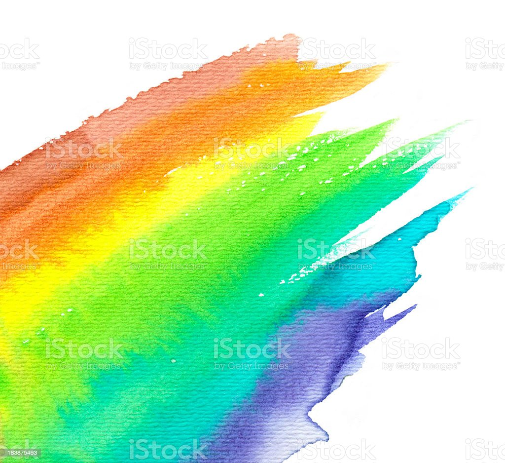 a watercolor rainbow on white background stock vector art
