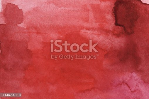 832048182 istock photo Watercolor red bright abstract background 1146206113