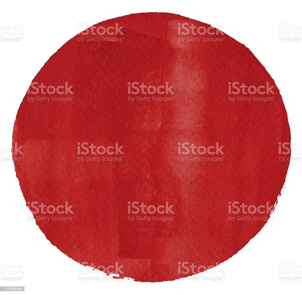 Watercolor Red Circle (Clipping Path) royalty-free stock vector art