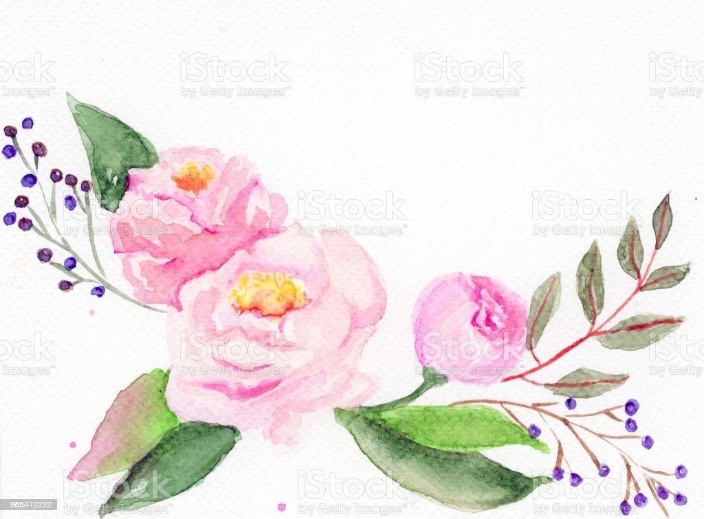 Watercolor rose. White backgrownd. watercolor rose white backgrownd - stockowe grafiki wektorowe i więcej obrazów abstrakcja royalty-free